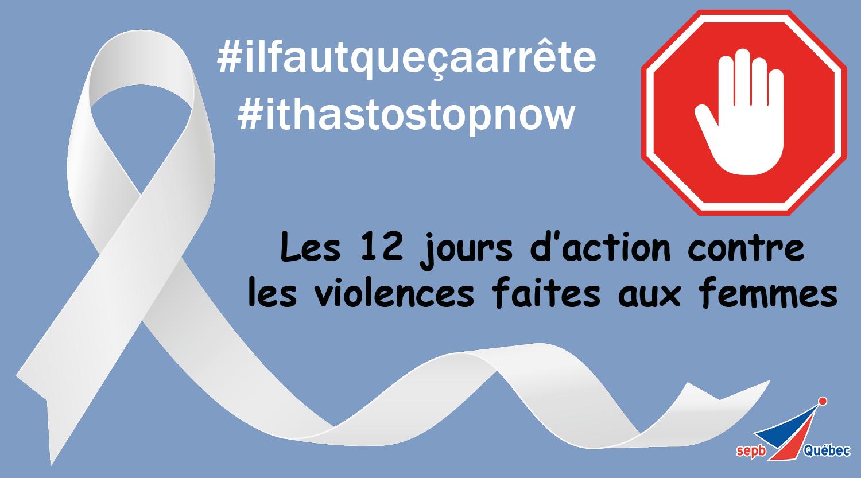 12 jours d'action contre les violences faites aux femmes
