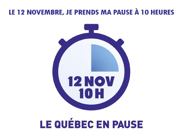 Le 12 novembre, une pause en hommage aux travailleurs et travailleuses de première ligne